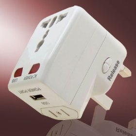Show details of Universial Travel AC Wall Adapter USB Charger.