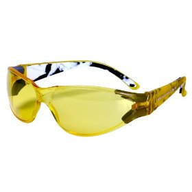 Show details of Body Glove 90380 V-Line High-Impact Safety Glasses, Yellow Frame, Yellow Lens.