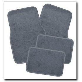 Show details of Comfort Products 607404 4 Piece Grey Carpet Floor Mats.
