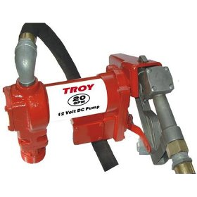 Show details of Troy 20 GPM 12 Volt DC High Flow Fuel Gas Diesel Drum Transfer Pump.