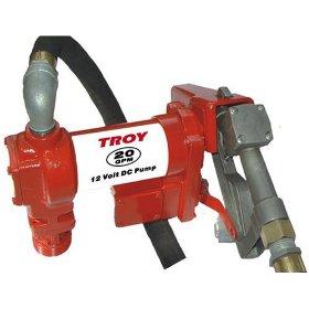 Show details of Troy 20 GPM 12 Volt DC High Flow Fuel Gas Diesel Drum Transfer Pump.