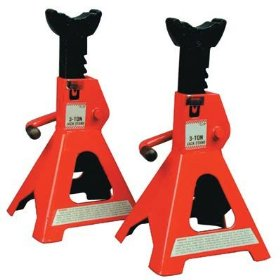 Show details of Torin Big Red Pair of Jack Stands - 3-Ton, Model# T43002.