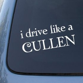Show details of I DRIVE LIKE A CULLEN - TWILIGHT - Vinyl Car Decal Sticker #1798 | Vinyl Color: White.