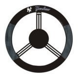 Show details of New York Yankees Mesh Steering Wheel Cover.