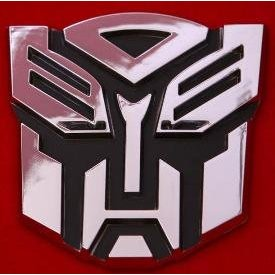 Show details of Autobot Transformer Chrome Emblem.