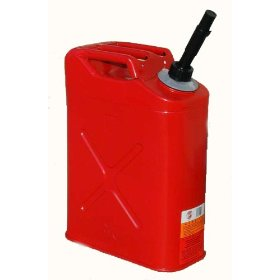 "Show details of Blitz USA #31710 5 Gallon Metal ""Jerry Can"" Spill Proof Portable Fuel Container System."