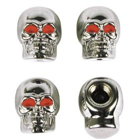 Show details of Cd/4: Custom Accessories Skull Valve Caps (16220).