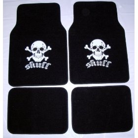 Show details of Skull Front & Rear Carpet Car Truck SUV Floor Mats.