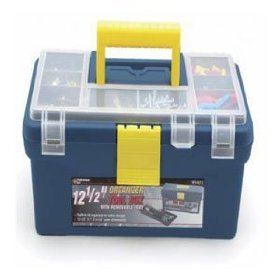 "Show details of Wilmar W54012 12 1'2"" Plastic Tool Box with Organizer."