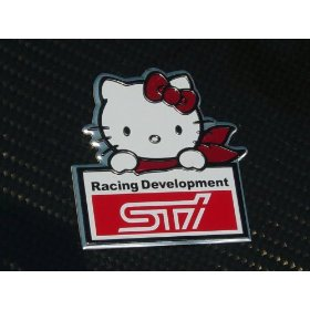Show details of Subaru STI Hello Kitty JDM Emblem Badge.