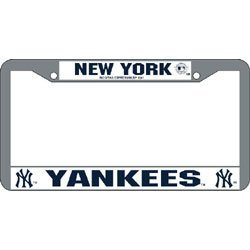 Show details of New York Yankees MLB Chrome License Plate Frame.