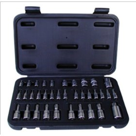 "Show details of Advanced Tool Design Model ATD-125 35Pc TORX Bit Set 1/4"", 3/8"", 1/2"" Drive."
