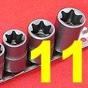 Show details of 11 pc FEMALE E-TORX (star) SOCKET Set w/RAIL.