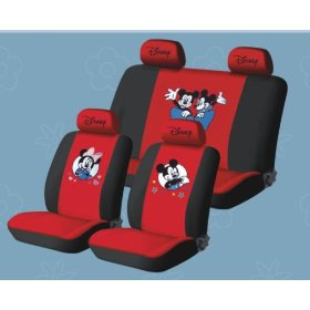 Show details of Free Upgrade Any Shipping Service to Priority Mail (Only Takes About 2-3days.) Universal Car Seat Cover -New Mickey Mouse 10pcs Full Set... Red ..