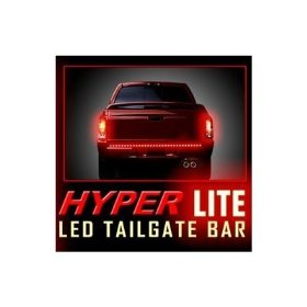 "Show details of Recon 26412 49"" Red Hyperlite ""Line of Fire"" LED Tailgate Light Bar - Fits most flare side and smaller trucks & SUV's."