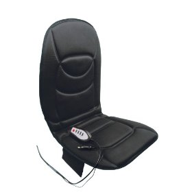 Show details of 12V, Seat/Back Cushion, 5 Motor, Heated (lower back) & Massaging, Black.