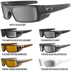 Show details of Oakley Gascan Men's Square O Casual Sunglasses Color: Matte Black/Grey.