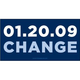 Show details of Barack Obama 01-20-09 Change Car Magnet.