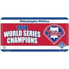 Show details of Philadelphia Phillies 2008 World Series Champs License Plate.