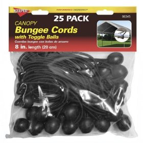 "Show details of Keeper 6345 8"" Canopy Bungee Cord, 25 Pieces."
