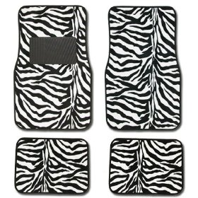 Show details of Zebra Animal Print Auto Floor Mat 4 pcs.