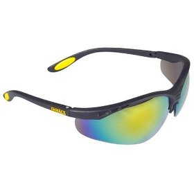 Show details of Dewalt DPG58-6C Reinforcer Fire Mirror High Performance Protective Safety Glasses with Rubber Temples.