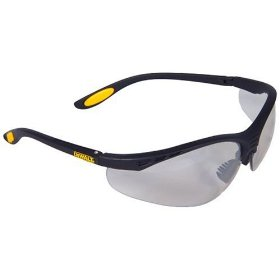 Show details of Dewalt DPG58-9C Reinforcer Indoor/Outdoor High Performance Protective Safety Glasses with Rubber Temples.