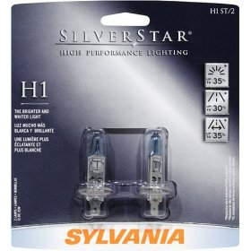 Show details of Sylvania H1ST SilverStar High Performance Halogen Headlight Bulb 12.8,V55W BP Twin.