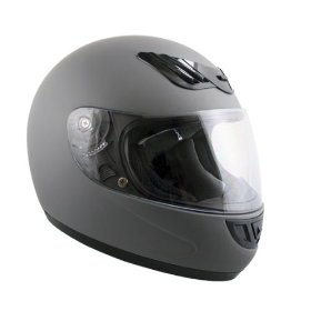 Show details of Advanced Hawk Vented Matte Grey Full Face Motorcycle Helmet - Size : Large.