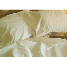 Show details of Short Queen (60X75) RV or Camper Sheet Set 100% cotton, 300 thread count Color: Ivory.
