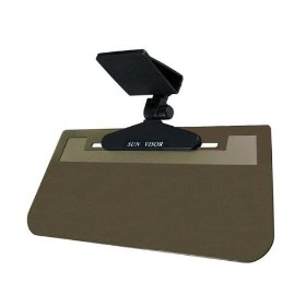 Show details of Clear View Clip-On Sun Visor - Three-Way Adjustable - Smoke.