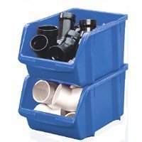 Show details of Stack-On Products Bin Blue Large Poly BIN-14.