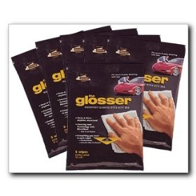 Show details of The Glosser Microfiber Cleaning Wipes with Wax, 5 wipes per pkg., CASE OF 6 packages.