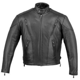 Show details of Classic Men's Cruiser Vented Premium Motorcycle Jackets - Color : black - Size : Large.