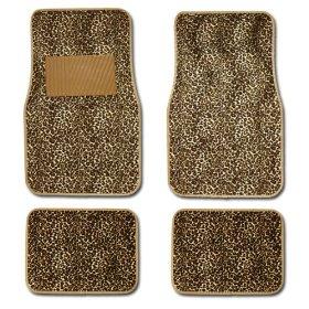 Show details of Leopard Animal Print Auto Floor Mat 4 pcs.