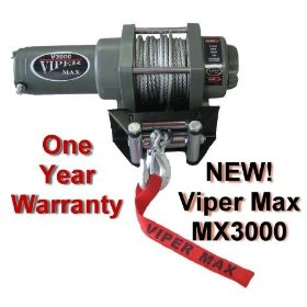 Show details of VIPER MAX 3000lb ATV Waterproof Winch.