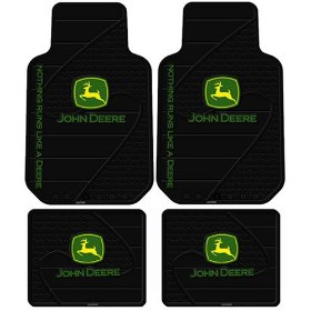 Show details of John Deere Factory Logo 4 Pc Floor Mats Set.