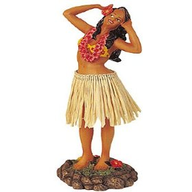 Show details of HULA GIRL DASHBOARD SHAKER BOBBLE - DANCING POSE.