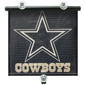 "Show details of DALLAS COWBOYS Team Logo Car Window BABY / CHILD SUN SHADE (14"" x 18"")."