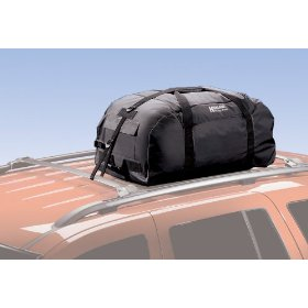 Show details of Highland 10396 Black Car Top Luggage Waterproof Rolling Duffel Bag.
