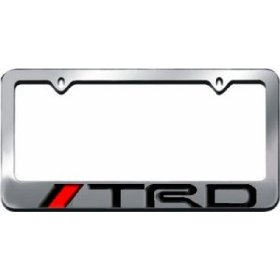 Show details of TRD License Plate Frame Chrome.