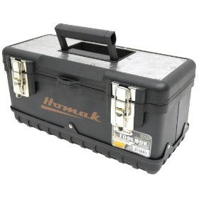 Show details of HOMAK BK00115000 15-Inch Black Painted Steel Tool Box.