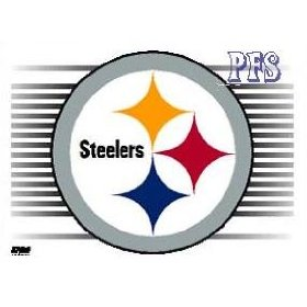 Show details of Pittsburgh Steelers 3 x 4 Static Cling.