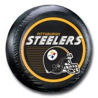 Show details of Pittsburgh Steelers NFL Spare Tire Cover (Black).