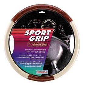 Show details of Superior 58-1120 Slip-On Woodgrain Steering Wheel Cover.