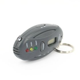 Show details of Alcohol Breathalyzer BREATH Tester Timer Keychain.