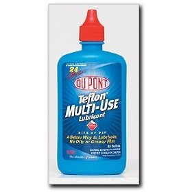 Show details of DuPont Multi-Use Lubricant with Teflon Fluoropolymer, 4 oz. squeeze bottle.