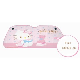Show details of Hello Kitty Sanrio Front Windshield Car Sunshade.