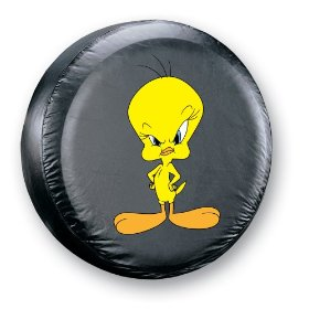 Show details of Serious Tweety Spare Tire Cover.