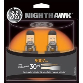 Show details of GE 9007NH/BP2 Nighthawk Automotive Replacement Bulbs - Pack of 2.